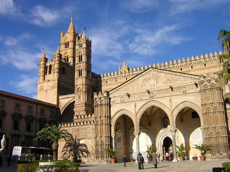 Gothic Style Home by Church In Palermo Cathedral Typical Sicily