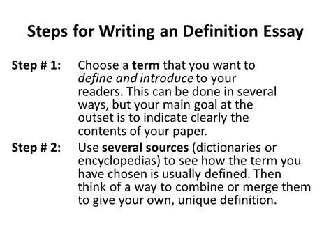 Definition Essay Writing by Lecture 9 Definition Essay Ppt