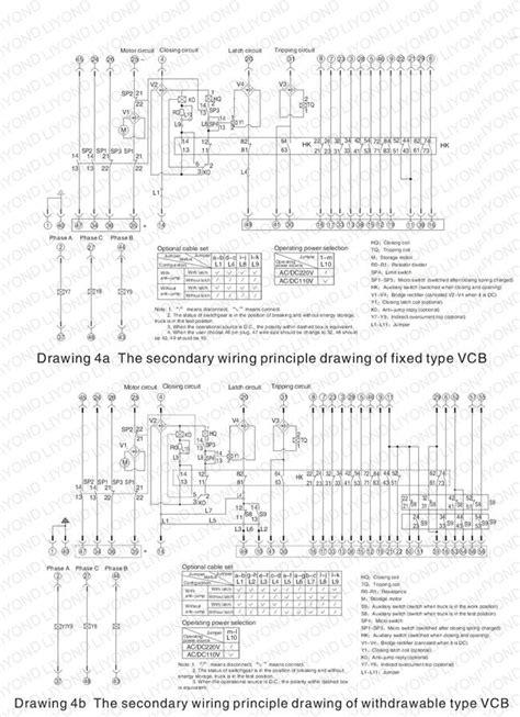 switchgear wiring diagram