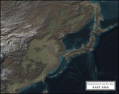 coastlines   ice age vivid maps