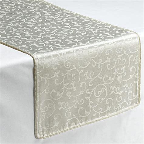 lenox opal innocence table linens lenox 174 opal innocence decorative table runner in white