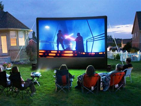 best outdoor projector screen 2015 backyard theater
