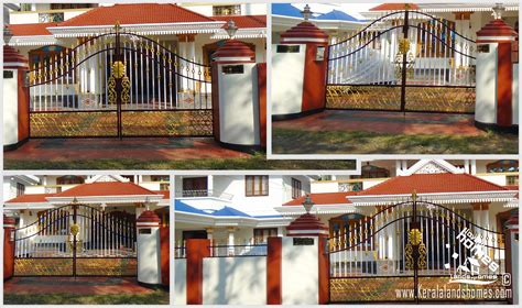 home gate design 2016 latest trends in compound wall gate designs keralareal estate kerala free classifieds