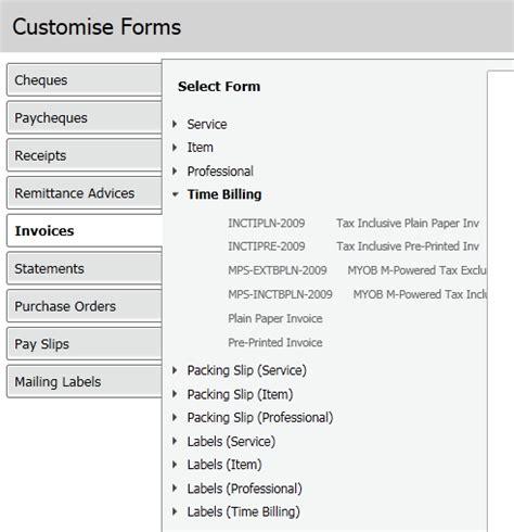 myob invoice templates timebilling invoice template myob community