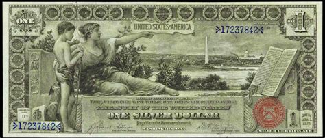 one for the money series 1 1896 one dollar silver certificate from the educational