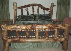 Log Bed Frames King High Country Products Custom Aspen Log Furniture