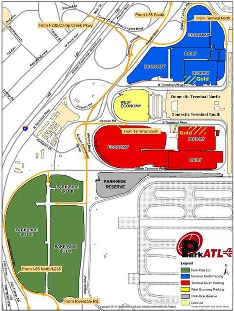 atlanta map of usa atlanta airport parking map atlanta hartsfield airport