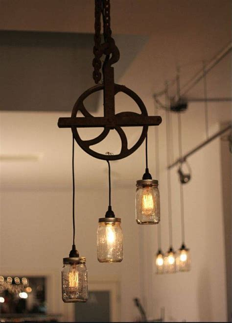 Lighting And Fixtures Rustic Light Fixtures For Kitchen L Chandelier Wooden Circle