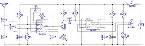 mobile phone detector circuit diagram of cell phone detector circuit and