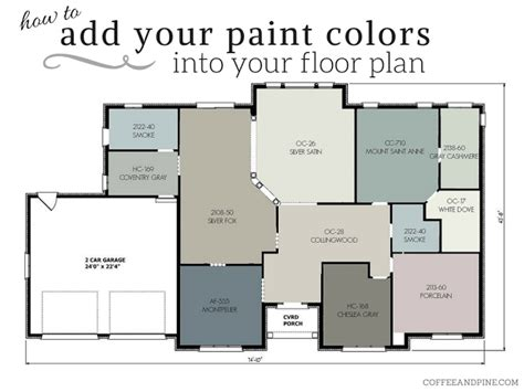 coffee and pine floor plan color scheme