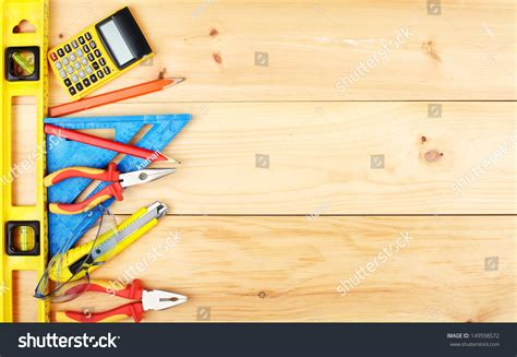 Construction Tools Home House Renovation Concept Stock