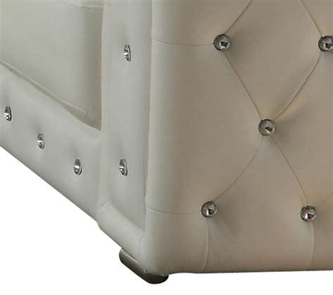 white faux leather sofa set pcs modern cosmos furniture