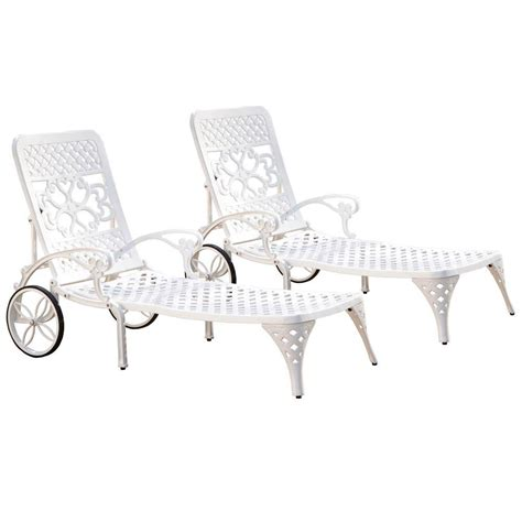 chaise lounge styles home styles biscayne white patio chaise lounge set of 2