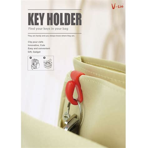 V Tie Gantungan Kunci Plastic Handbag Key Clip Holder 2 Baru 1 clip holder tempat gantungan kunci 2pcs pink