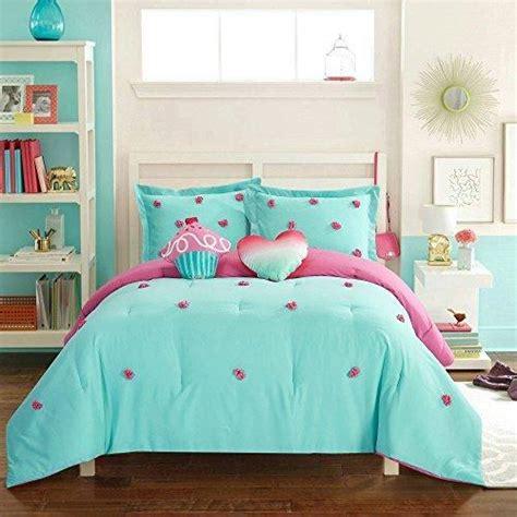 solid pink twin comforter kids teal pom pom comforter set twin pink polka dots