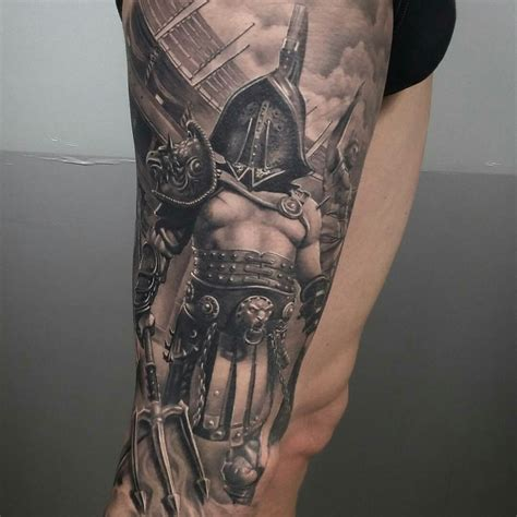 gladiator tattoos done by brian flores gladiator gladiador