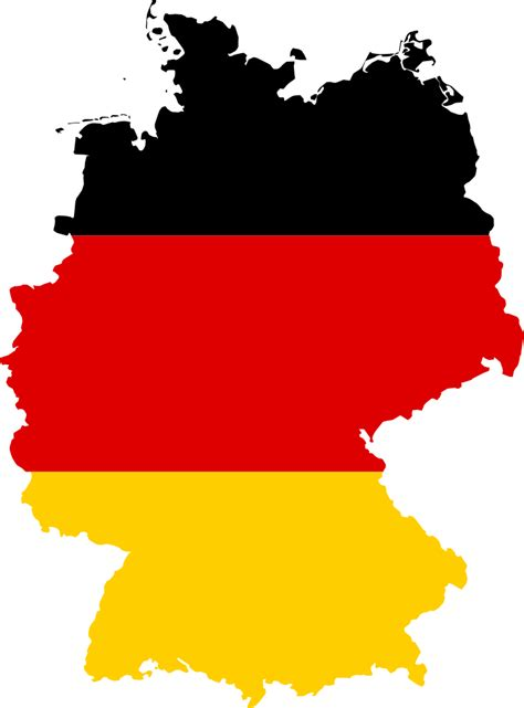 Flag Map file flag map of germany svg