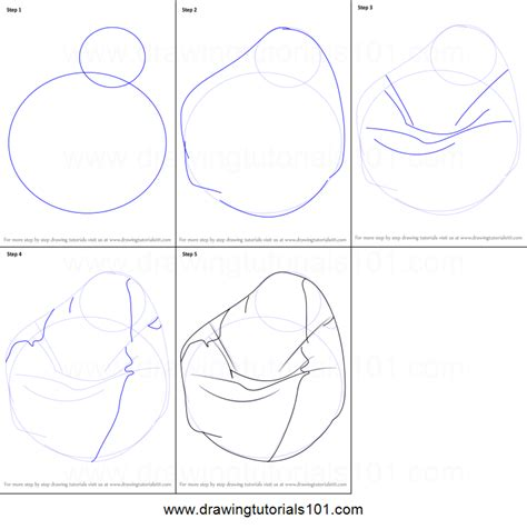 drawing bag pattern how to draw a bean bag printable step by step drawing