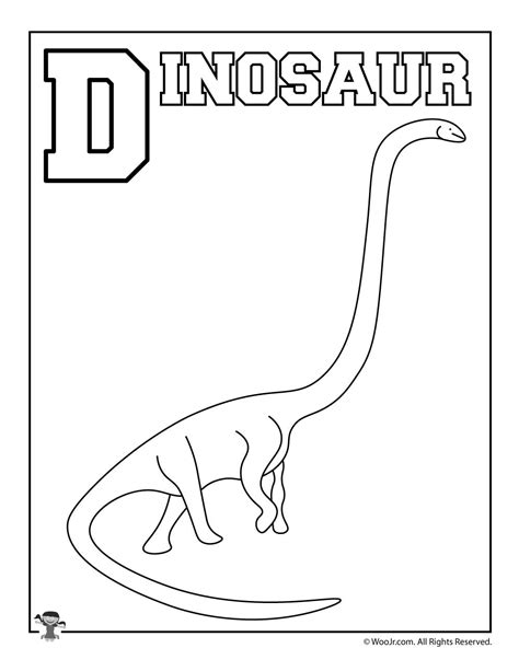 dinosaur alphabet coloring pages d is for dinosaur woo jr kids activities
