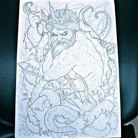 poseidon tattoo design best 25 poseidon ideas on