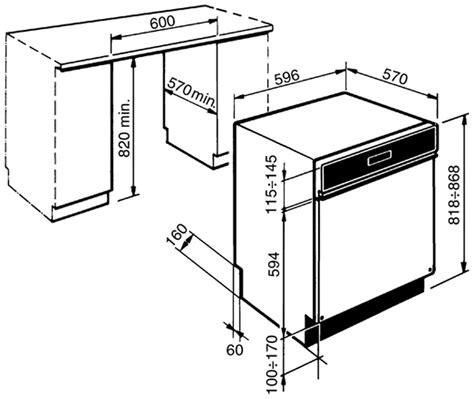 us standard sizes for dishwashers smeg dd612s7 60cm drawerline dishwasher