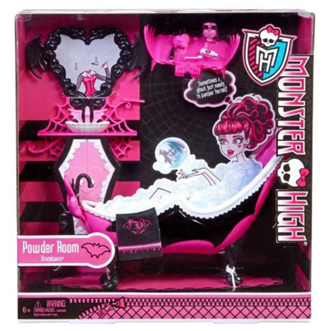 monster high bathroom stuff childrens monster high draculaura powder bathroom bath mirror doll not included