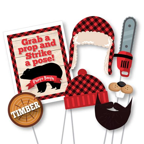 free printable lumberjack photo booth props lumberjack photo booth props photobooth props