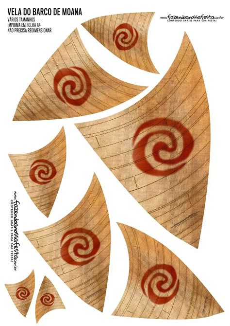 moana boat sail printable free moana sails moana pinterest moana moana party and