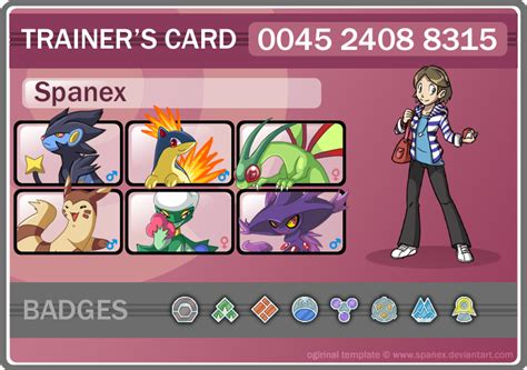 make trainer card trainer card spanex by pipann on deviantart