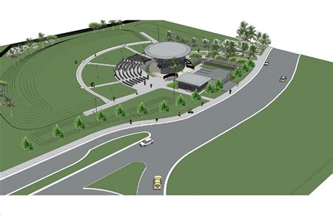 Berm Home by Waterfront Park Amphitheater Design Finalized Konk Life