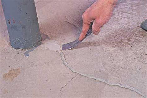 fixing cracks in concrete this house