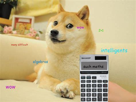 calculator doge doge know your meme