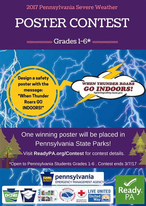 Giveaway Poster - pa emergency management agency pema poster and video contest paesta