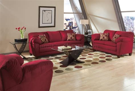 Living Room With Burgundy Sofa burgundy micro suede living room sofa w options