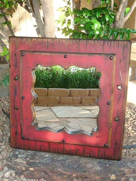 country style mirrors home decor red white blue decorative wood mirror wood framed
