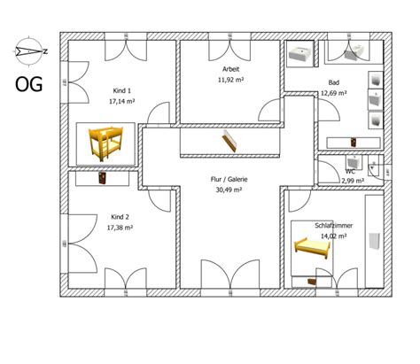 1 Schlafzimmer Haus Plan plan unsere nummer 1