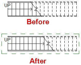 how to show stairs in a floor plan adjust cut line for stair in revit architecture applying