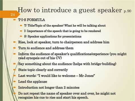 How To Introduce A Speaker Sle Speech n5 communication tvet colleges module 4 presentation