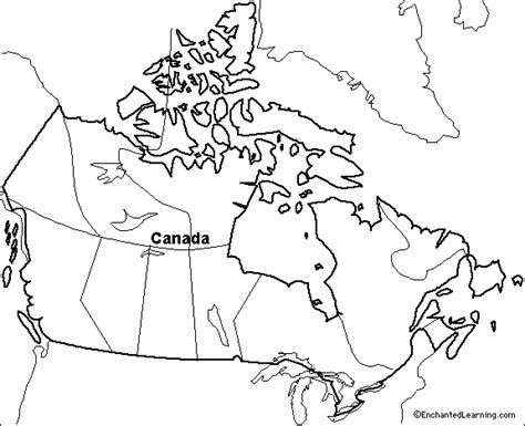 blank outline map canada
