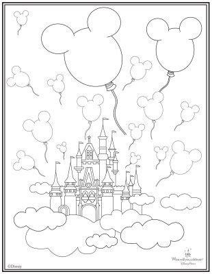 magic castle coloring page castle coloring page c mickey minnie magic