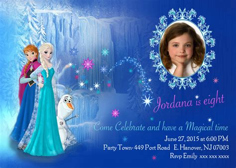 frozen invitation template diy print frozen invitations frozen birthday invites elsa