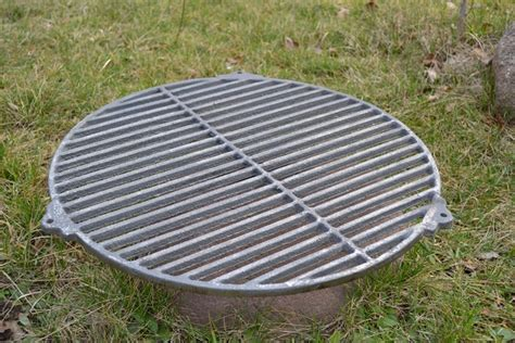 pit grates cast iron 216 53cm bbq barbecue grate grill cast iron outdoor