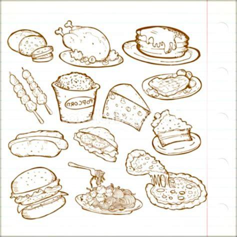dibujo alimentos dibujos de platillos saludables para colorear fotos de