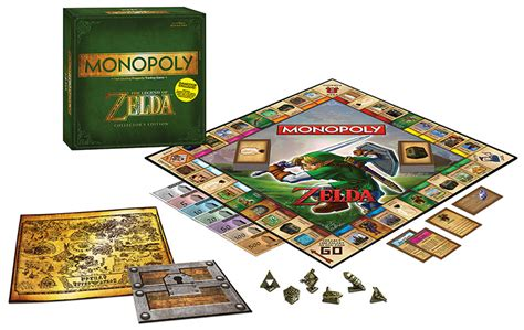 themes of monopoly board games the legend of zelda monopoly has items exclusive to