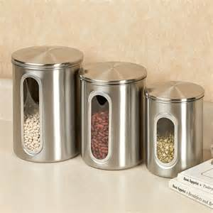 Stainless Steel Kitchen Canisters by Stainless Steel Kitchen Canister Sets Unique Kitchen