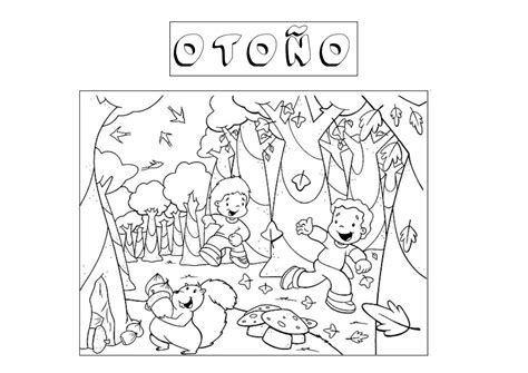 imagenes de invierno para niños para colorear oto 241 o dibujos para pintar de la estaci 243 n que caen las