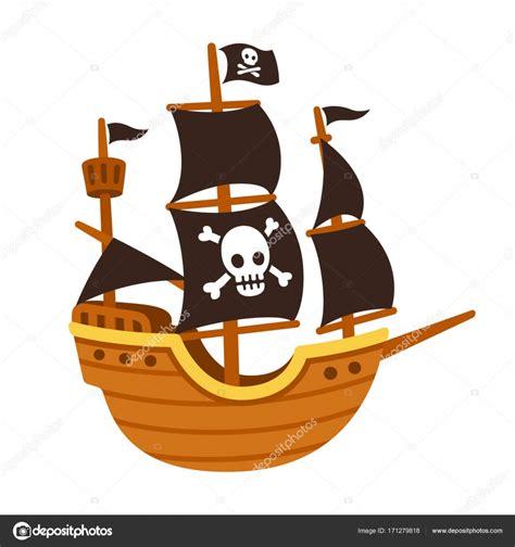 dibujos animados barcos piratas dibujo animado del barco pirata vector de stock