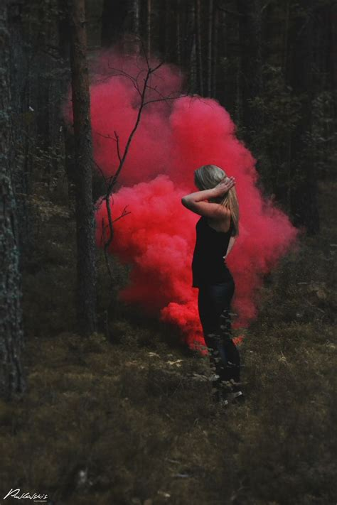 colored smoke smoke forest colored smoke bombs