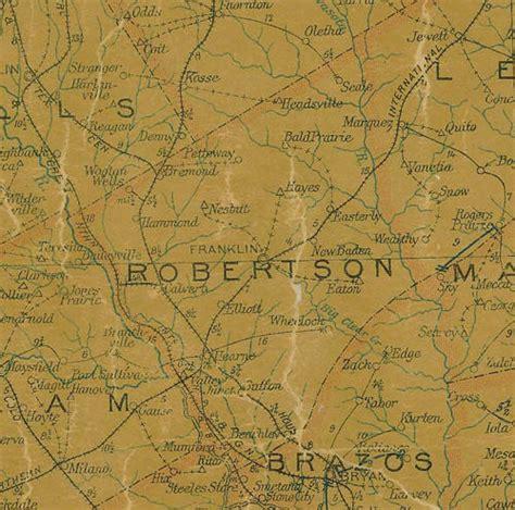 robertson county texas map robertson county texas
