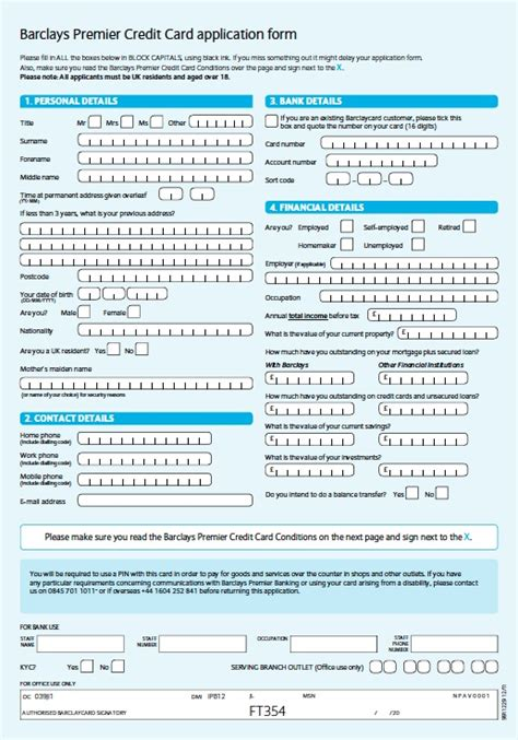 Barclays Credit Card Letter Landbank Card Application Form You Can On Site Melbourneovenrepairs Au